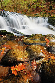 Autumn waterfall  by John Chivers