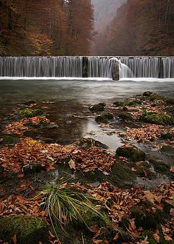 Autumn waterfall by Miroslav  Petrusic