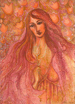 Autumn with Gold Flower by Rita Fetisov
