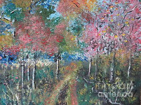 Autumn Woodland by Judy Via-Wolff