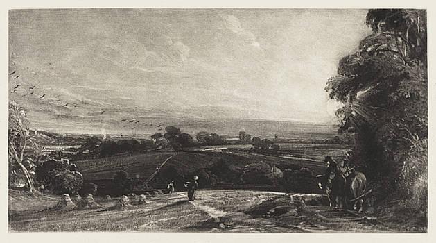 David Lucas after John Constable - Autumnal Sunset
