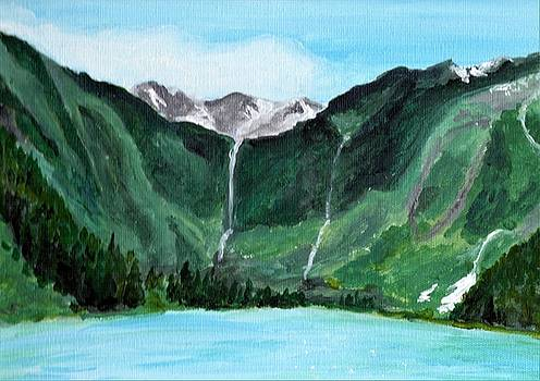 Avalanche Lake by Anne Hockenberry