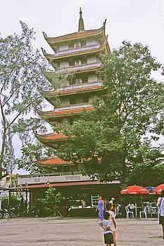 Avalokitesvara Stupa Tower In Ho Chi Minh City by Rich Walter