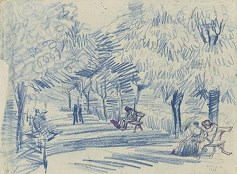 Avenue in a Park Arles, May 1888 Vincent van Gogh 1853 - 1890 by Artistic Panda