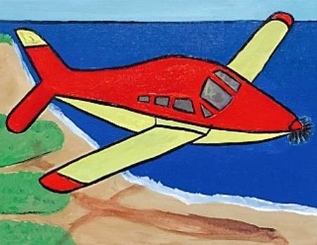 Aviation painting. Original acrylic painting on canvas. by Jonathon Hansen