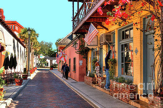 Aviles Street located in Old Town, St Augustine, Fl by C W Hooper