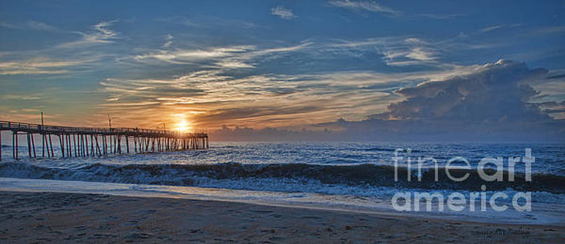 Avon Pier at Sunrise by Laurinda Bowling