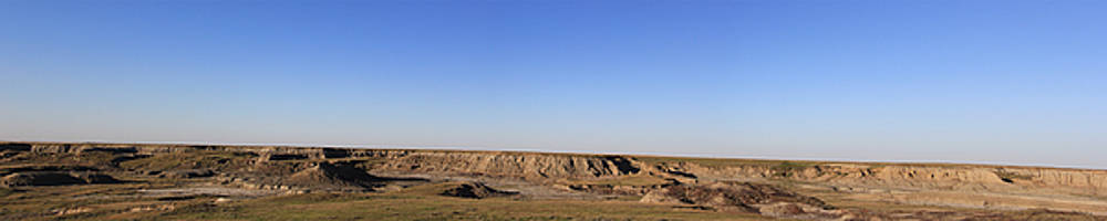 Avonlea Badlands Panorama by Andrea Lawrence