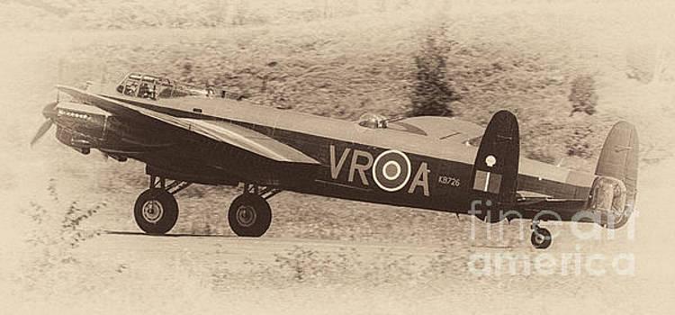 Avro Lancaster Bomber - Vintage Style Image by Robert McAlpine
