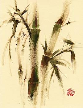 Awareness - Sumie Bamboo Brush Painting by Rebecca Rees
