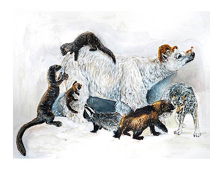 Awesome Mustelids by Belette Le Pink
