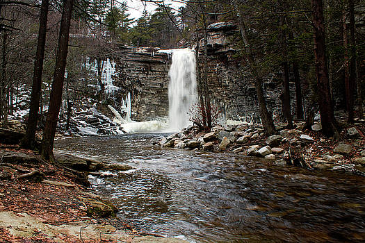 Awosting Falls in January #2 by Jeff Severson