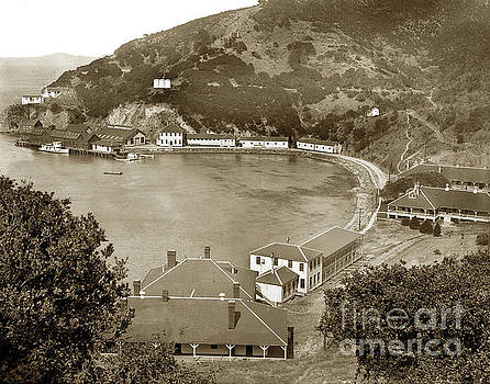 California Views Mr Pat Hathaway Archives -  Ayala Cove AKA Hospital Cove with dorms Angel Island circa 1890