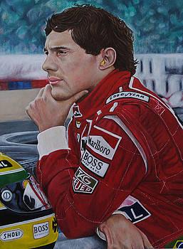 Ayrton Senna by David Dunne