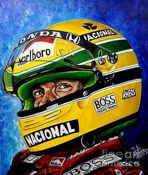 Ayton Senna Legend by Jose Mendez