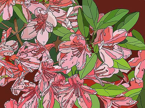 Azalea Bunch by Jamie Downs
