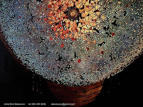 Aztec Indian Shield by Emil Bodourov