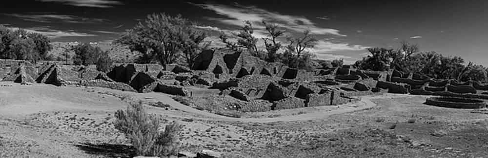 Aztec Ruins Panorama New Mexico BW by Steve Gadomski
