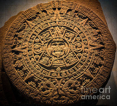 Aztec Stone of the Sun  by Inge Johnsson