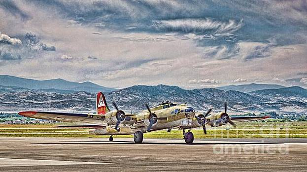 Jon Burch Photography - B-17 After A Rough Flight
