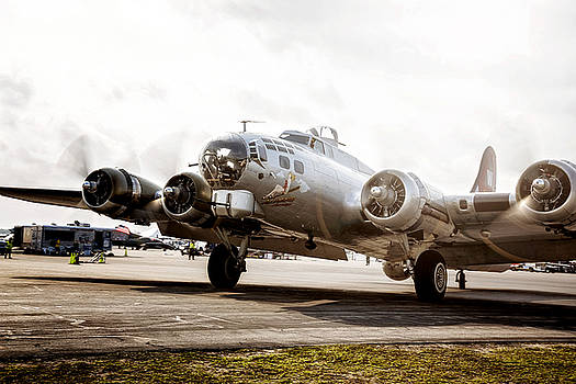 B-17 Bomber Ready for Takeoff by Michael White
