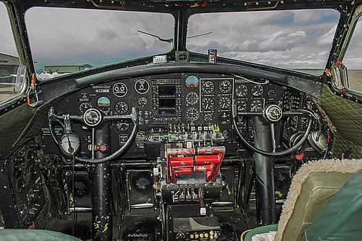 B-17 Cockpit by Allen Sheffield