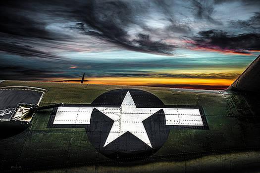 Sunset North American B-25 Mitchell by Bob Orsillo