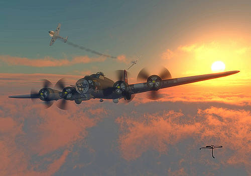 B-17 Flying Fortress by Steven Palmer