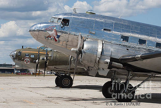 B-17 Thunderbird  and DC-3 Bluebonnet Bell by Antoine Roels