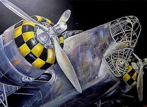 B-18A Bomber by Elaine Balsley
