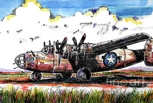 B-24 Liberator Bomber by Terry Banderas