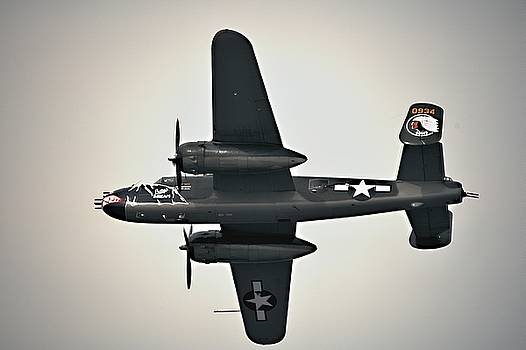B-25 Fly by by Michael Courtney