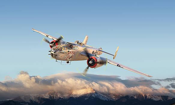 B-25j Mitchell Bomber by Larry McManus