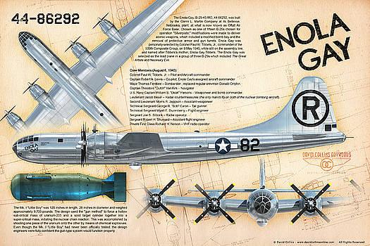 B-29 Enola Gay  by David Collins