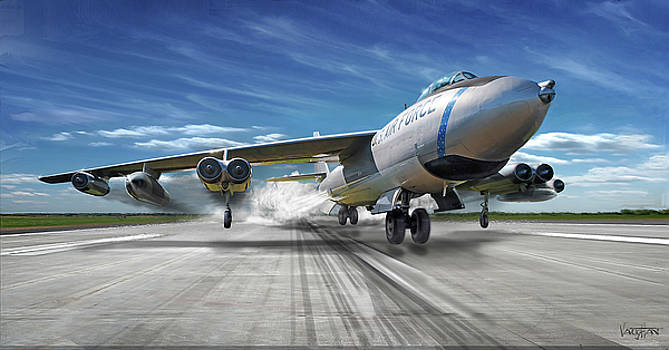 B-47 Stratojet JATO Takeoff by James Vaughan