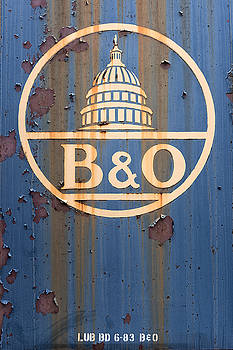 B and O Railroad Rail Car Signage by Jeff Abrahamson