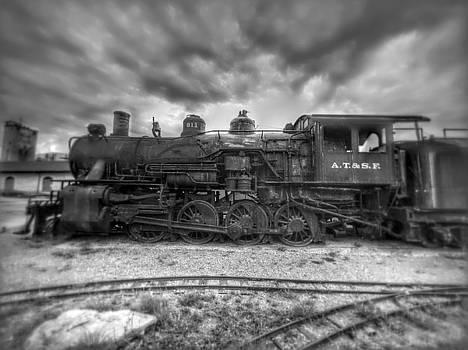 b/w historical train in Atchison by Dustin Soph