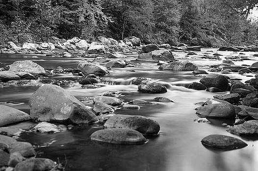 B/W River in the Smokies by Cathie Crow