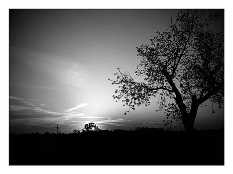 b/w sunset in Atchison by Dustin Soph