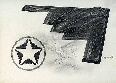 B2 Spirit batwing by Mark Jennings