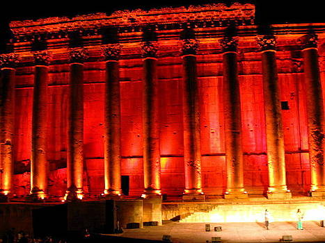 Baalbeck By Night by Therese AbouNader
