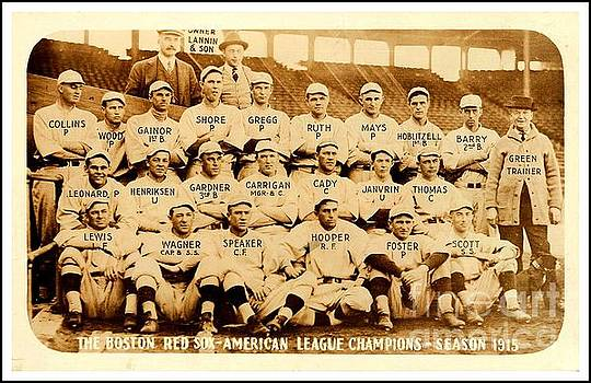 Babe Ruth Boston Red Sox American League Champions Season 1915 by Peter Gumaer Ogden