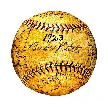 Babe Ruth New York Yankees 1923 Team Autographed Baseball by Peter Gumaer Ogden Collection