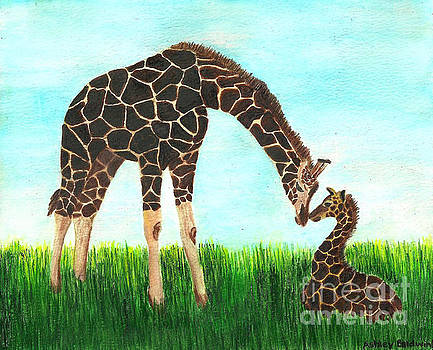 Baby and Mother Giraffe with Hidden Mickey by Ashley Baldwin