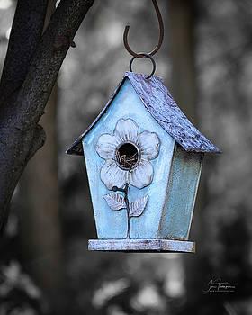 Baby Blue Birdhouse by Jim Thompson