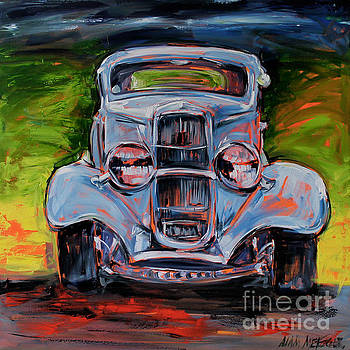 Baby Blue Hot Rod by Alan Metzger