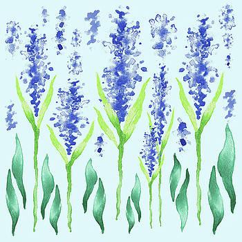 Baby Blue Nursery Watercolor Flowers Magic Garden by Irina Sztukowski