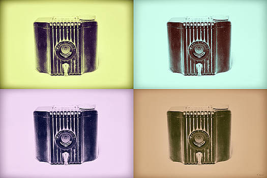 Baby Brownie Camera Four Panel Art Deco Print by Tony Grider