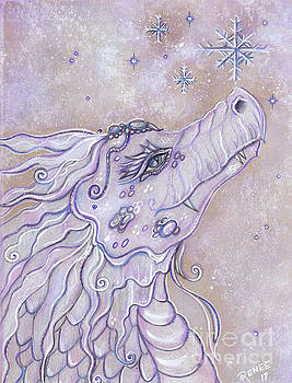 Baby dragon's first snow by Renee Lavoie