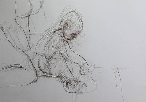 Harry Robertson - Baby, drawing with Mother